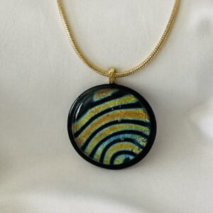 fused dichroic glass necklace