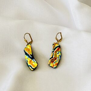 fused dichroic glass earrings